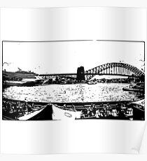 Sydney Harbour Bridge Silhouette  Poster