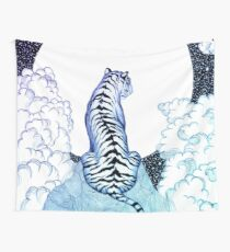 Ombre Tiger Mond Wandbehang