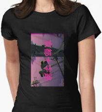 Street Night Womens Fitted T-Shirt