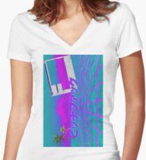 Vapor Sea Women's Fitted V-Neck T-Shirt