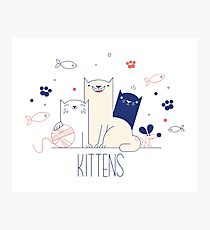 cartoon kittens Photographic Print