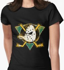 the duck Womens Fitted T-Shirt
