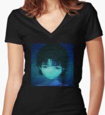 Static VHS Women's Fitted V-Neck T-Shirt