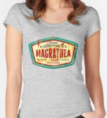 Magrathea - Custom Luxury Planets Women's Fitted Scoop T-Shirt