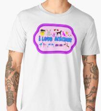 ❤↷I Love Animals-Animal Lovers↶❤ Men's Premium T-Shirt