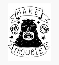 Make trouble - anarchy gorilla Photographic Print