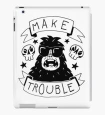 Make trouble - anarchy gorilla iPad Case/Skin