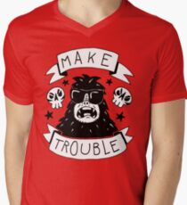 Make trouble - anarchy gorilla Men's V-Neck T-Shirt