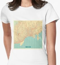 Nice Map Retro Womens Fitted T-Shirt