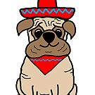Mexican Pug by avillustrations