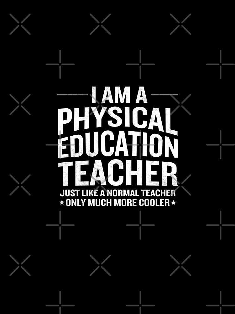 Funny Im A Cool Physical Education PE Teacher Gift By JapaneseInkArt