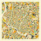 AUSTIN MAP by JazzberryBlue