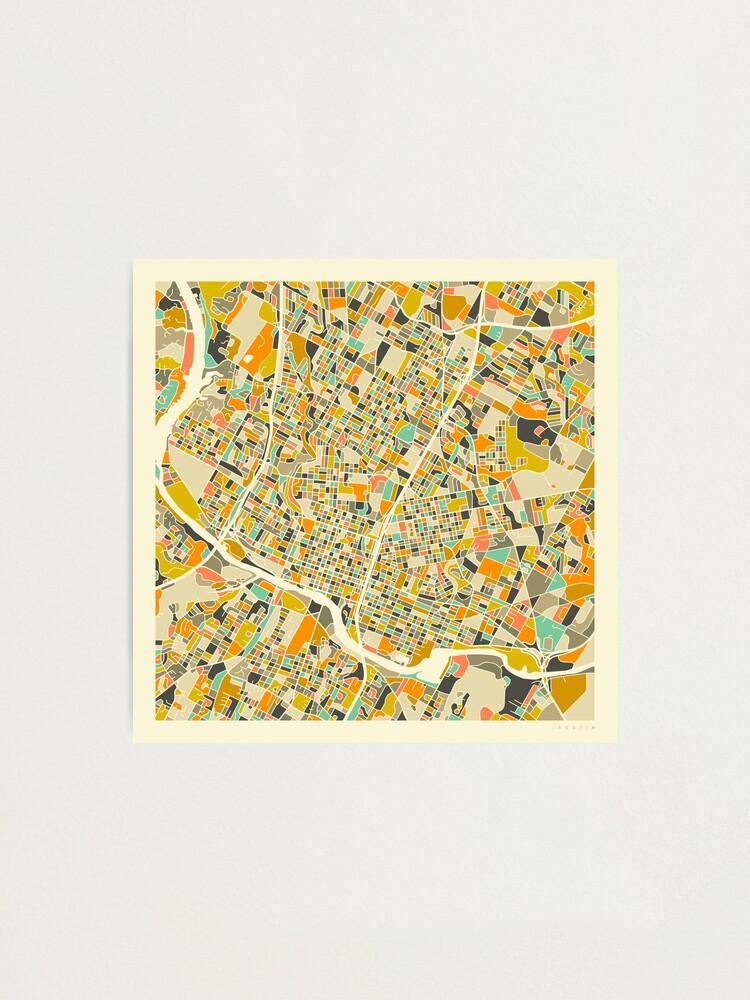 Alternate view of AUSTIN MAP Photographic Print