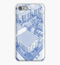 Blueprint Drawing of Modern Apartment Complex No 11 iPhone Case/Skin