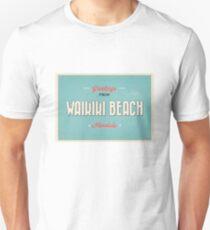 vintage style waikiki greeting T-Shirt