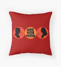 Gone With the Wind (ship logo) Throw Pillow