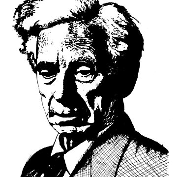 Bertrand Russell by SecularInk