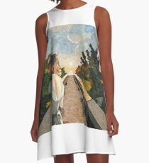 White Young Sun A-Line Dress