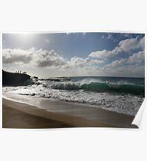 Sunny Hawaiian Beach Fun Poster