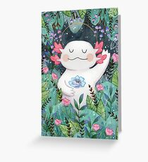 the flower guardian Greeting Card