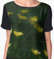 Yellow Wildflowers Women's Chiffon Top