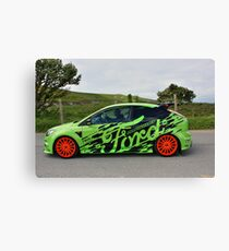 Green and Orange Ford RS Graphics Canvas Print