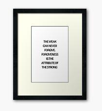 FORGIVENESS Framed Print