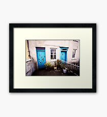 Tourquoise Doors Framed Print