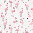 Flamingo Pattern by 4ogo Design