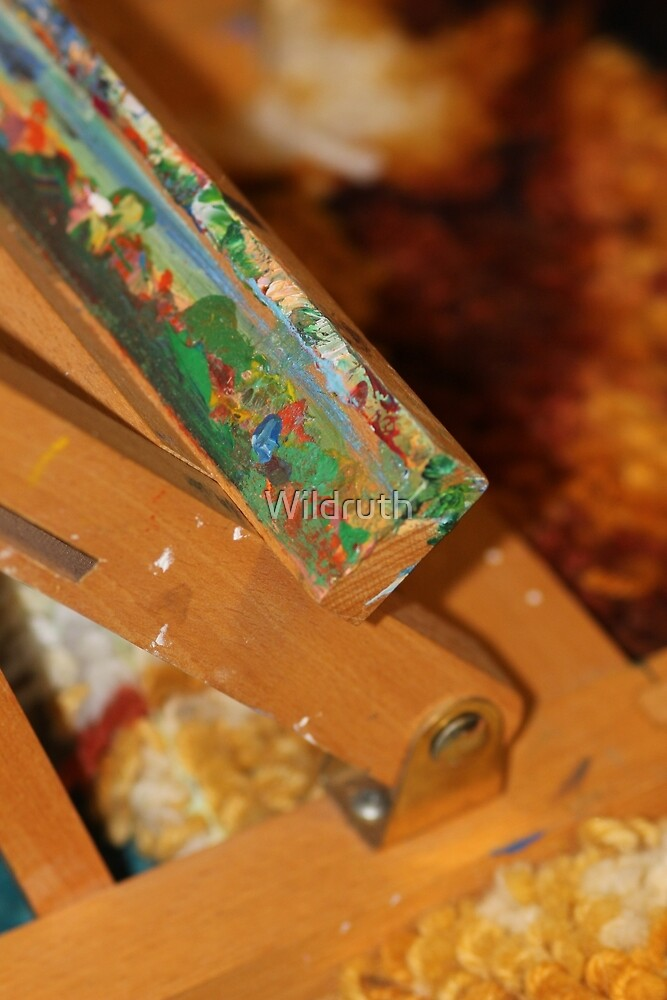 Abstract of a artists easel  by Wildruth