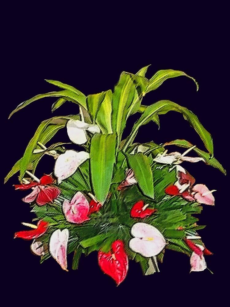 Arreglo Floral Tropical De Dadesimone Redbubble