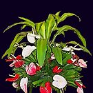 Tropical Flower Arrangement by DAdeSimone