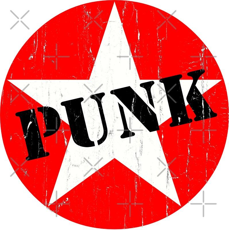 Quot Punk Road Worn Distressed Grunge Star Logo