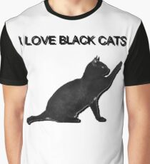 Black cat lover Graphic T-Shirt