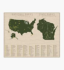 US National Parks - Wisconsin Photographic Print