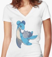 Lapras Women's Fitted V-Neck T-Shirt