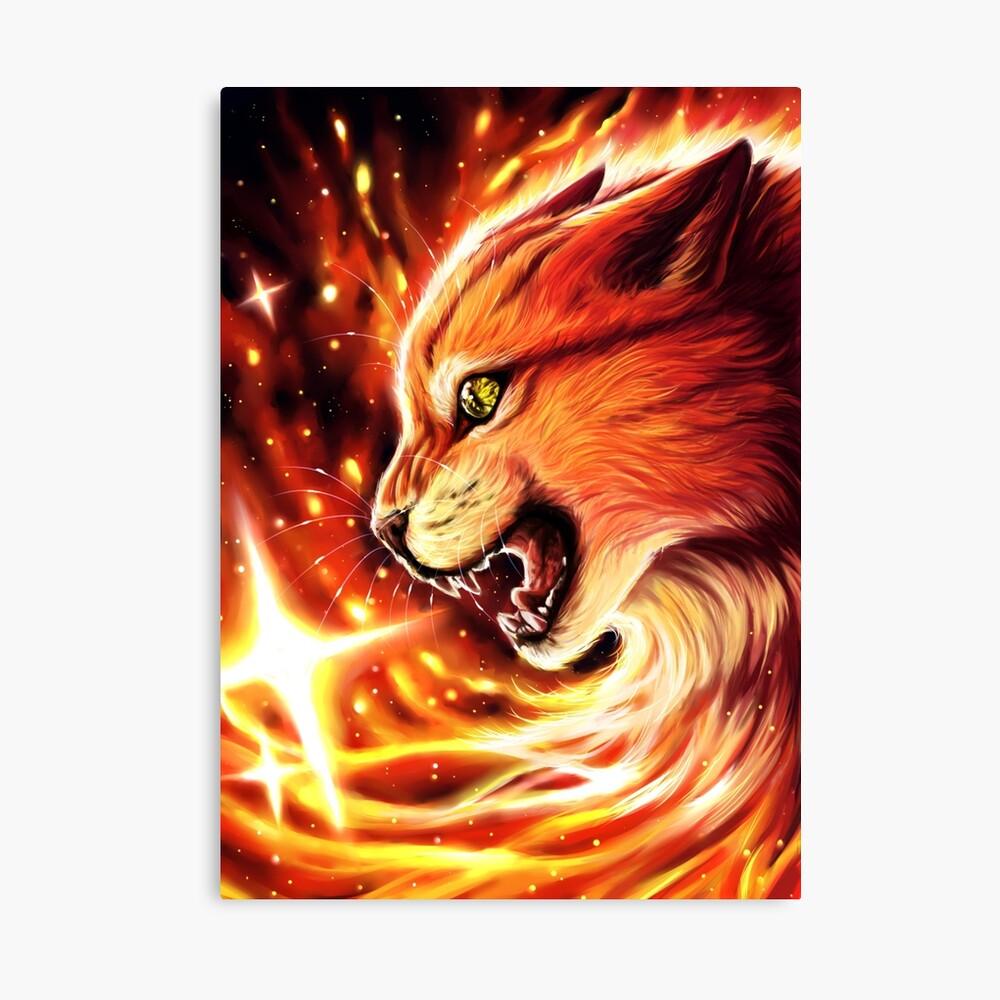 Fire Star Canvas Print