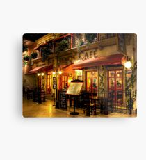 The French Cafe Metal Print