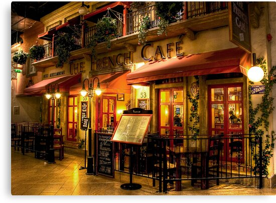 Quot The French Cafe Quot Canvas Prints By Dave Warren Redbubble