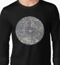 Mexico City map engraving Long Sleeve T-Shirt