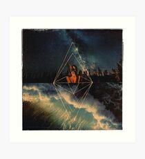 Geometric Waves Art Print