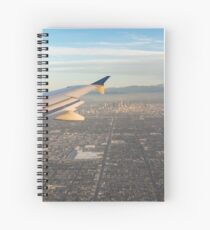Flying to LA - Southern California's Sprawling Metropolis from a Plane Spiral Notebook