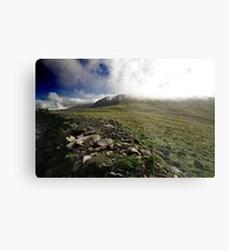 Fog rolls over the hill Metal Print