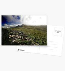 Fog rolls over the hill Postcards