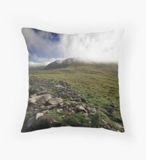 Fog rolls over the hill Throw Pillow