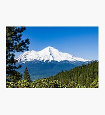 Mt Shasta from Castle Lake Photographic Print