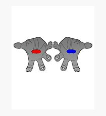 Red&Blue Pill Photographic Print