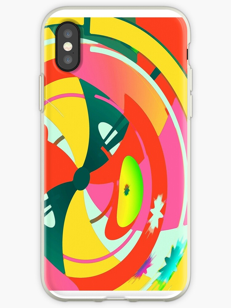 Abstract Neon Geometric Pattern by ARTiculatePRINT