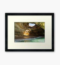 Sea Cave Sunlight - the Iconic Benagil Natural Wonder Framed Print