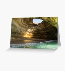 Sea Cave Sunlight - Benagil  Greeting Card